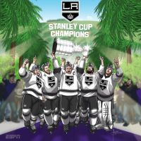 ESPN Social Media Art LA Kings SC Champs by MBorkowski