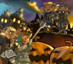 Confrontation at Pumpkin Fest by feitian