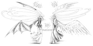 Winged twins by Lucithea