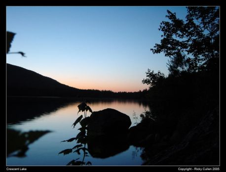Crescent Lake at Sunset by ClawzSkunk