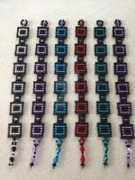 Square Stitch Bracelets by WhiteMagicPriestess