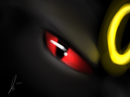 Serious Umbreon is Serious by jaclynonacloud