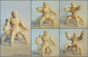 3D printed Android Crab Version C by hauke3000