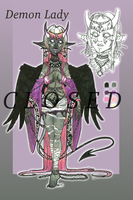 AUCTION (CLOSED): Demon lady (usd/pts) by weirdosaurus-adopts