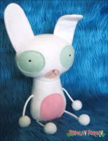 White and Pink Bunny by plushrooms