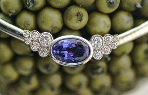 Tanzanite and diamond necklace by carpe0diem