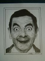 Mr Bean rowan Atkinson by WJLACEY