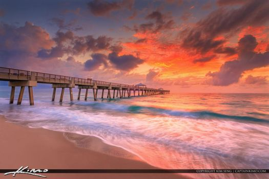 Juno-Beach-Pier-Sunrise-after-the-Storm by CaptainKimo