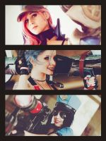 Vi - Jinx - Caitlyn by ThelemaTherion