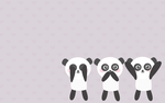 Hear no evil Panda Wallpaper by TheSaltyMonster