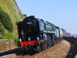 British Railways 70000 'Britannia' at Teignmouth by The-Transport-Guild