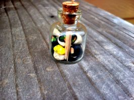 Sushi In A Jar  Necklace by SteamPixy