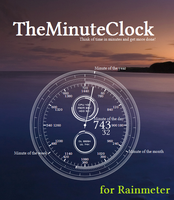 TheMinuteClock for Rainmeter by unistructure