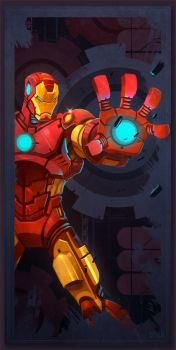 Avengers Card Iron Man by frogbillgo