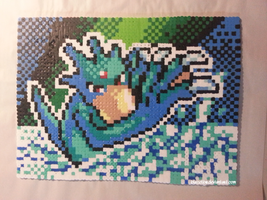 Perler Beads - Golduck by BlazeTBW