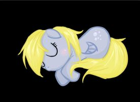 Filly Derpy Sleeping by MadameMochete