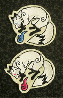 FOR SALE - Magical fox patches - SOLAR edition by goiku