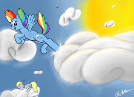 Cloud Kicking Session! by Chrispy248