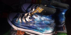 Tardis DIY shoes pt.2 by LadyFabcurly