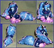 Filly Luna with Crystals and Unraveling Sock FINAL by MadPonyScientist