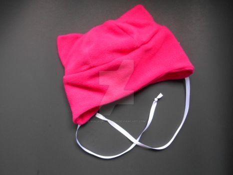 FOR SALE: hot pink kitty hat by NinjaDropsShop
