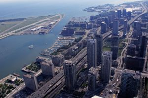 Toronto Waterfront from CN Tower by KMourzenko