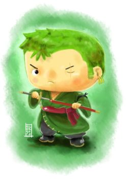 Digipaint Exercise - Zoro by HNDRNT26