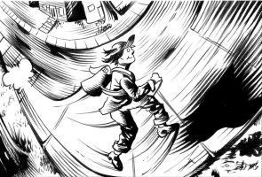 Inktober Day 3 - In A Flash by PeterPalmiotti