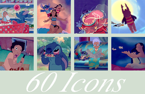 Lilo and Stitch - 60 Icons by LucieWay