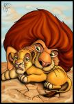 Mufasa and Simba by LadyMartina