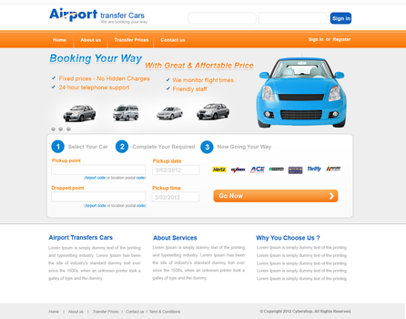 Airport Transfer Template 2 by webcreater