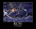 Run! It's the fangirls! (NO ONE TAKE OFFENCE) by AuroraStarWarrior
