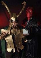 Red Skull and Loki by Tokyo-Trends
