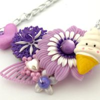 Ice Cream Collaged Necklace by AndyGlamasaurus
