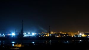Night view from Barreiro by biffexploder