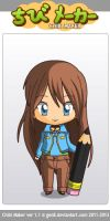 ChibiMaker female me (geander bend) by Antidotethelizard