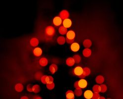 Christmas Bokeh by Dynnnad