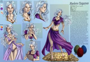 Commission 38 Maelerys character sheet by LadyDeddelit