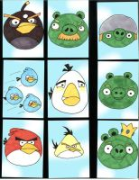 Angry Birds Sketch Cards by JPHazen
