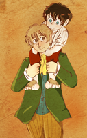 Bilbo and Frodo Baggins by Vero27