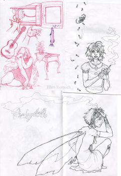 A collection of sad fairys (and Courtney Love) by EllenRomach