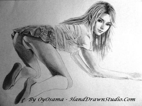 Stella Nox on all fours flash bum by HandDrawnHentai