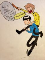 Kirk and Spock by Qoutex