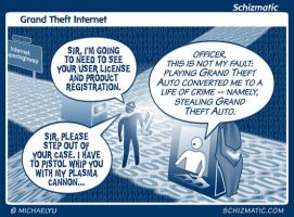 Grand Theft Internet by schizmatic
