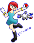Flo and Magnemite by SniperGYS