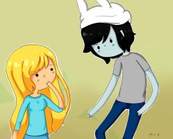 fionna and marshall lee (awesome hat) by michelle-lennon9