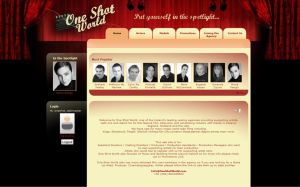 Website for One Shot World by grapple-media