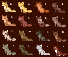 Little Fox Point Adoptables (OPEN) by DaPuddingz