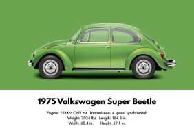 1975 Volkswagen SuperBeetle - Viper Green Metallic by artbyedo