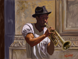 The Trumpet Player by grobles63